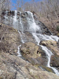 Amicalola falls from the bridge