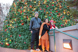 Us in front of Christmas tree