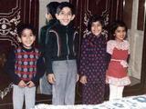 Fowzi, me, Munira, a neighbor kid in Libya
