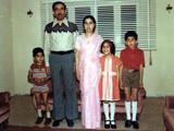 Fowzi, Dad, Mom, Munira, me in Libya