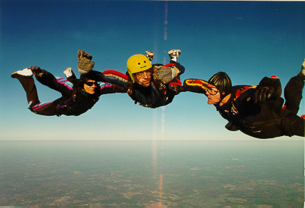 Zack skydiving