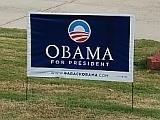 Obama Yard Sign